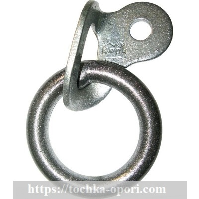 Шлямбурное ухо с кольцом (сталь)